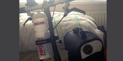 David's Brompton bicycle, monkii clip and monkii V cage