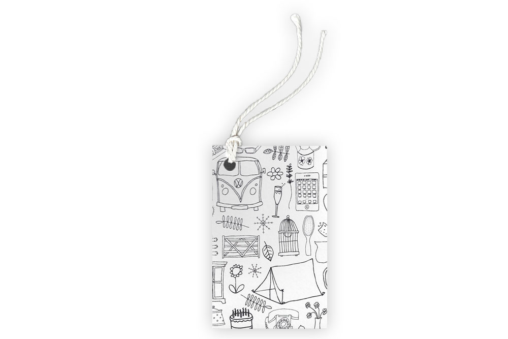 Black and White Touring Gift Tag