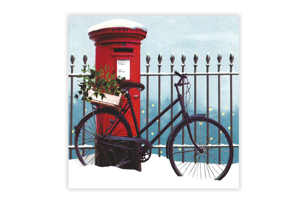 Bike n Box Bicycle Christmas Cards x 8