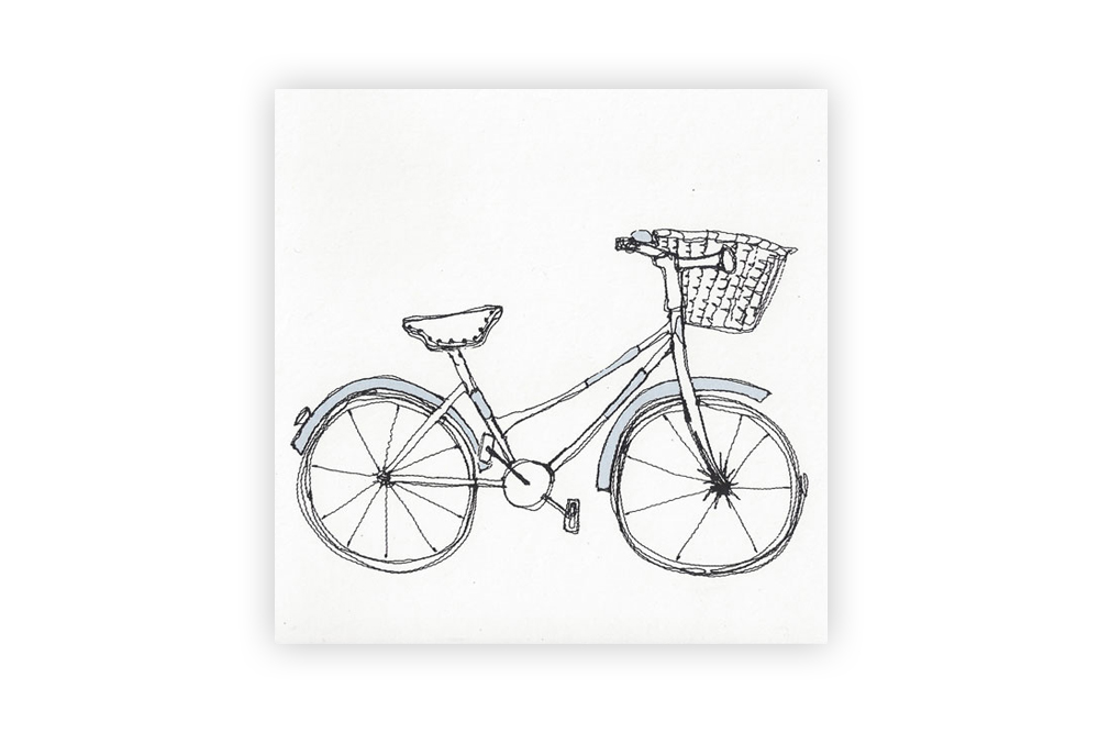 Poppy Treffry Bicycle Greeting Card