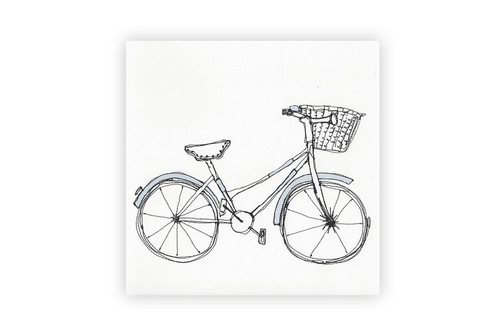 Poppy Treffry Bicycle Greeting Card