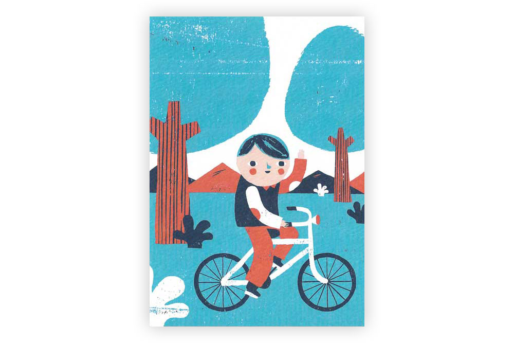 Boy's Bicycle Greeting Card