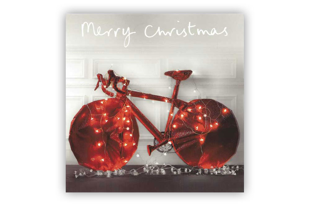 """Merry Christmas"" Bicycle Christmas Card"