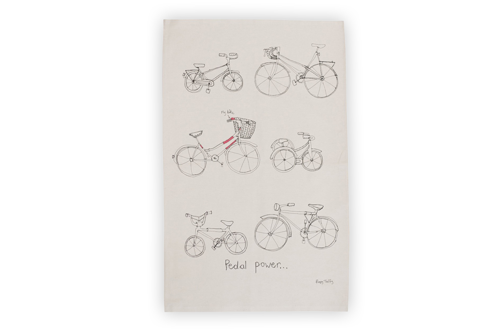 Poppy Treffry Bicycle Tea Towel