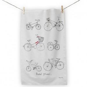 Poppy Treffry Bicycle Tea Towel