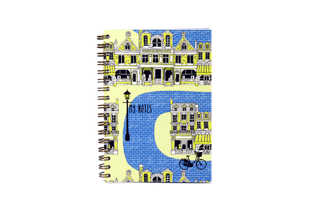 Blue Brick Road Bicycle Notebook – A6