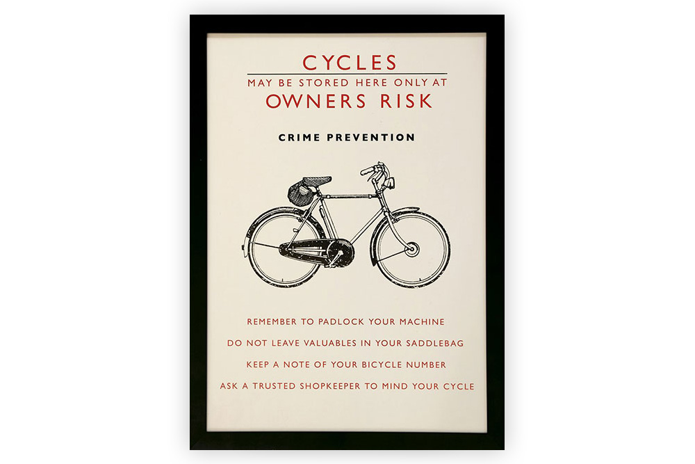 Vintage Framed Bicycle Print