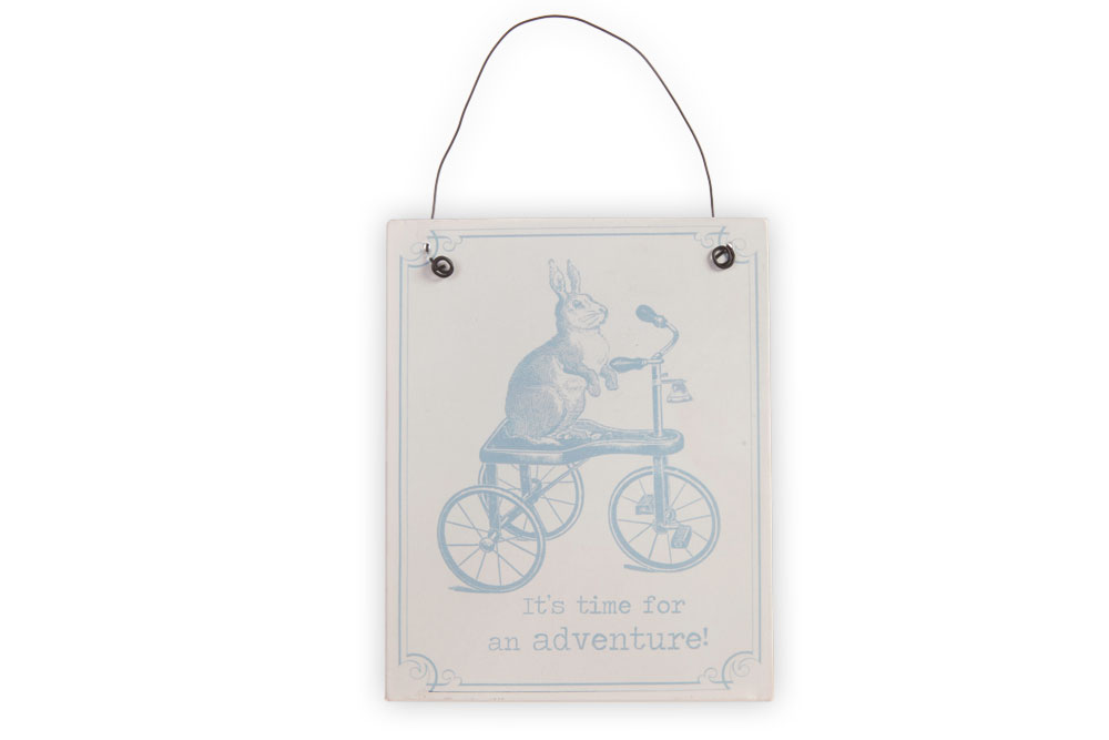It's Time for an Adventure – Metal Bicycle Sign