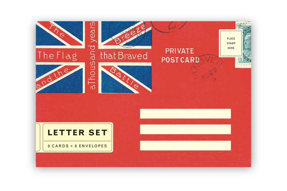 Union Jack Letter Set Cards with Envelopes