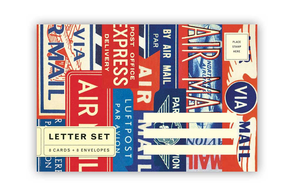Air Mail Letter Set Cards with Envelopes