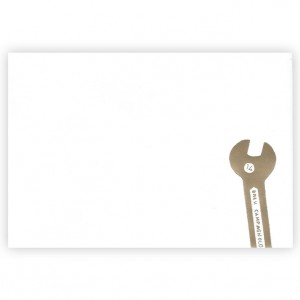 Spanners Bicycle Greeting Card by Kim Jenkins
