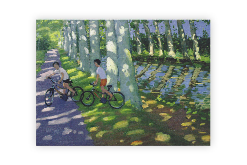 Museums galleries cyclemiles canal du midi bicycle greeting card m4hsunfo