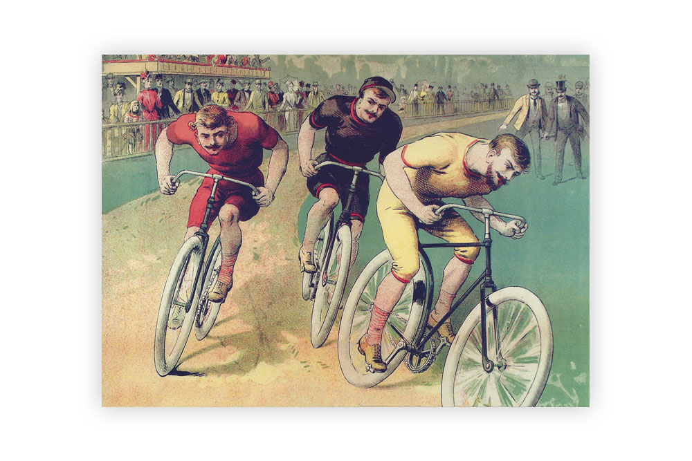 Museums galleries cyclemiles 250 cycles clement 1891 bicycle greeting card m4hsunfo
