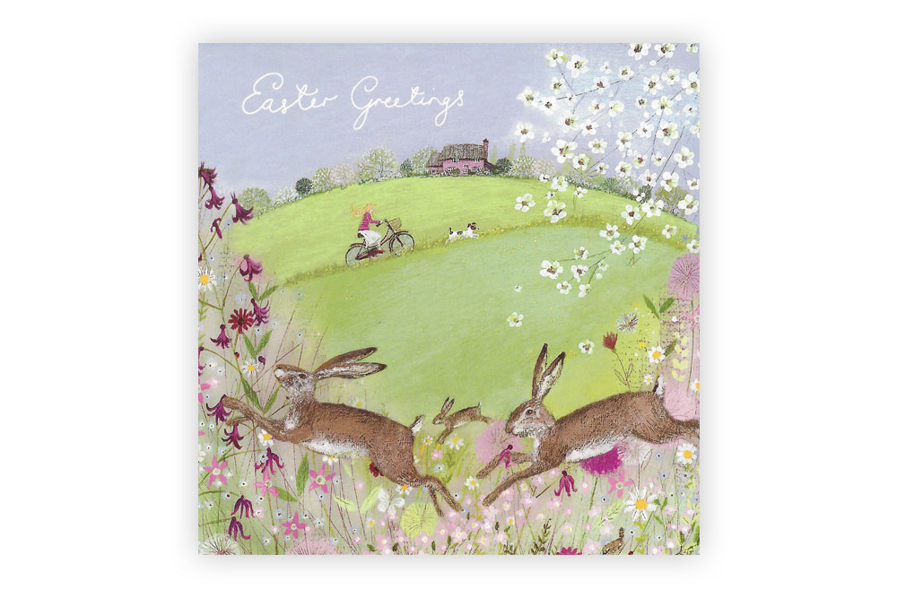 Easter Bicycle Greeting Card Pack of 5