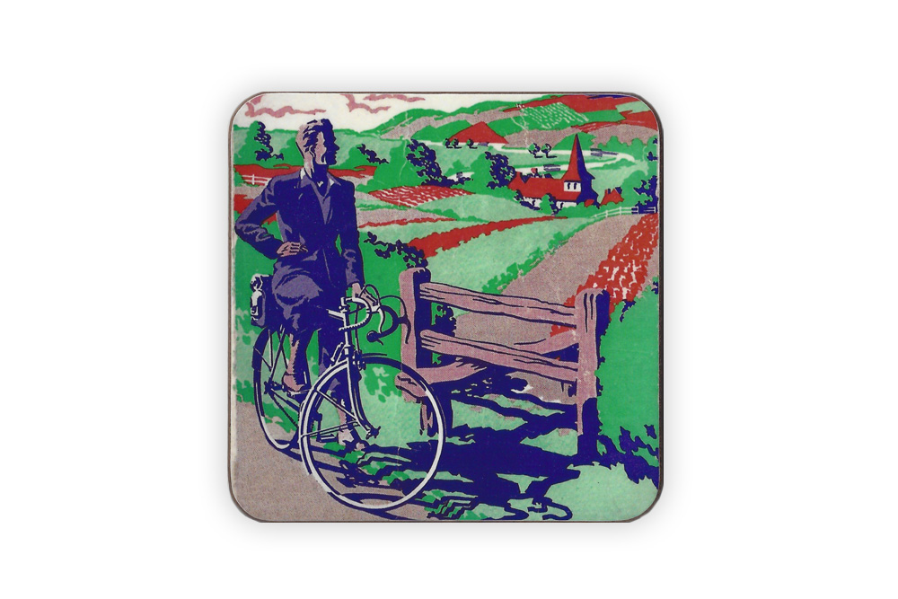 CycleMiles Vintage Cycling – Bicycle Drinks Coaster