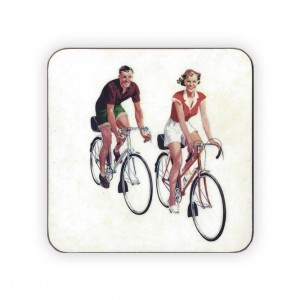 CycleMiles Vintage Bicycle Drinks Coaster