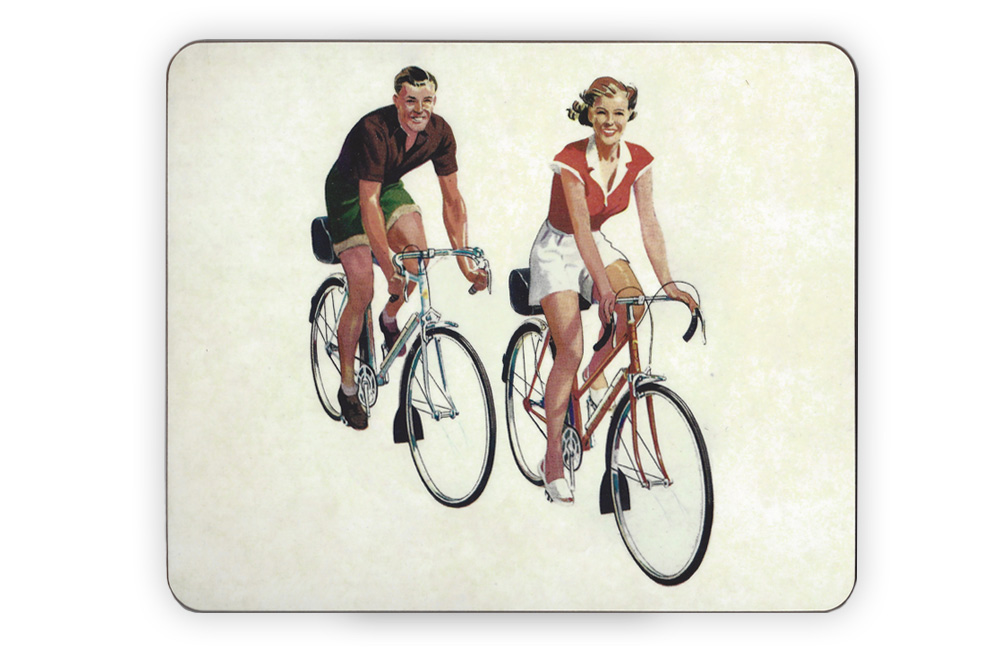 CycleMiles Vintage Couple Bicycle Placemat