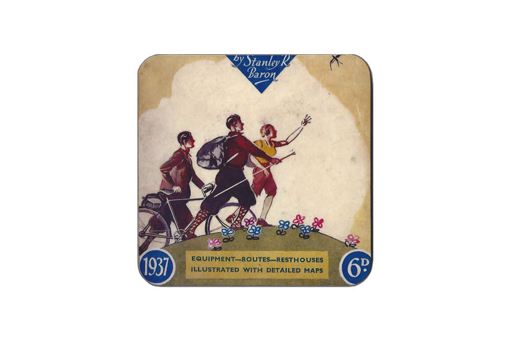 CycleMiles – Brave New World Bicycle Drinks Coaster