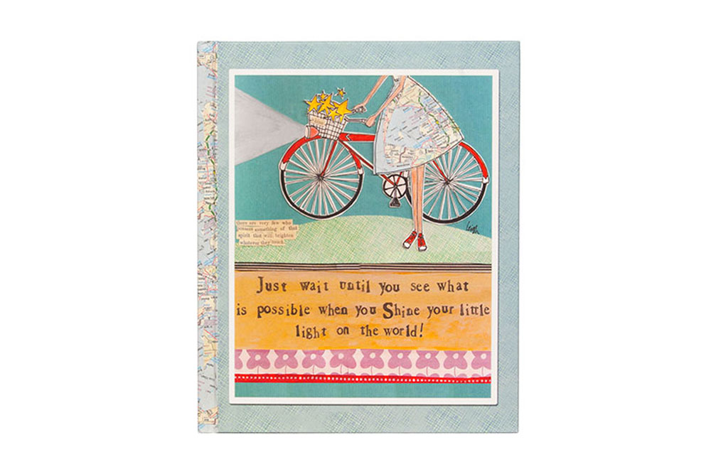 Curly Girl Bicycle Notebook – Shine your little light