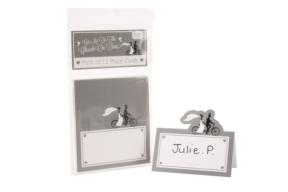 12 Bicycle Wedding Place Cards