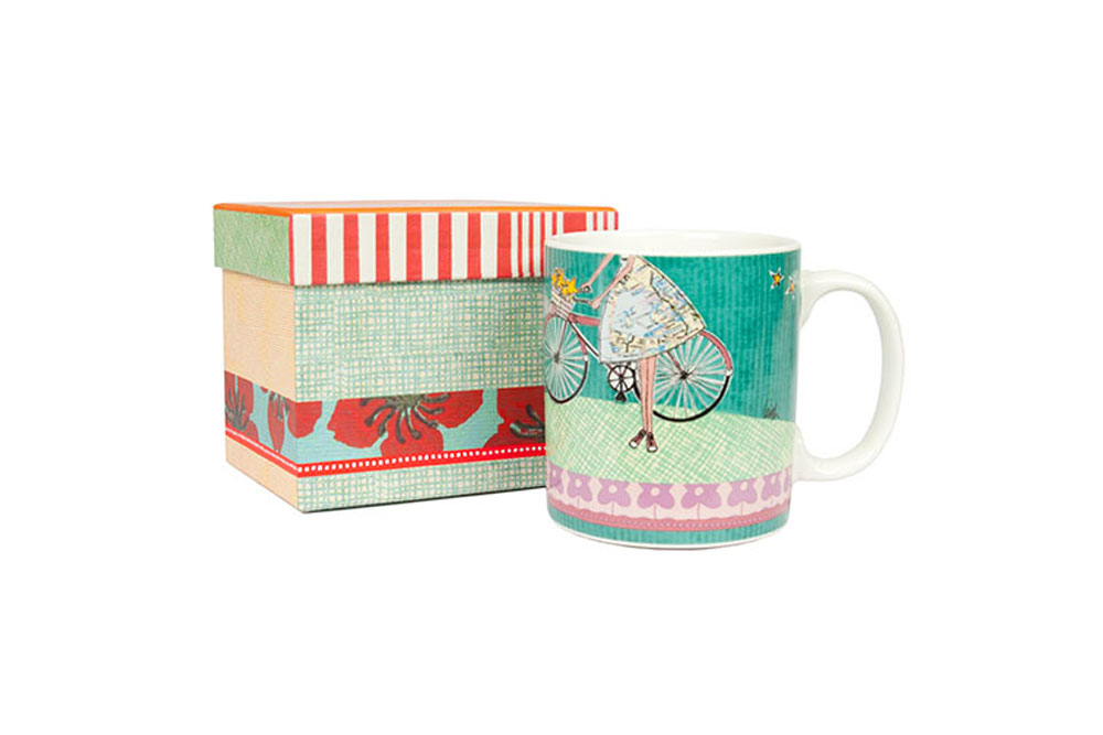 Curly Girl Women's Bicycle Mug – Shine your little light