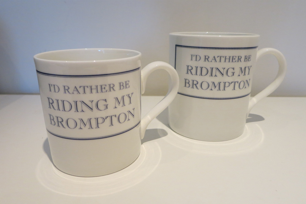I'd Rather Be Riding My Brompton Bicycle Mug – Blue