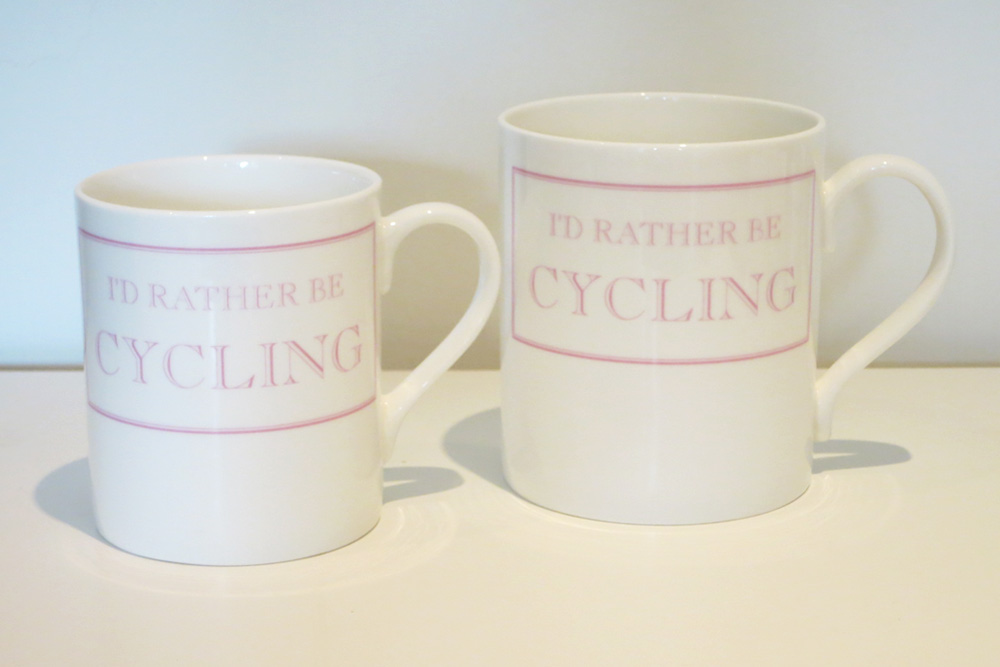 I'd Rather Be Cycling Mug – Pink
