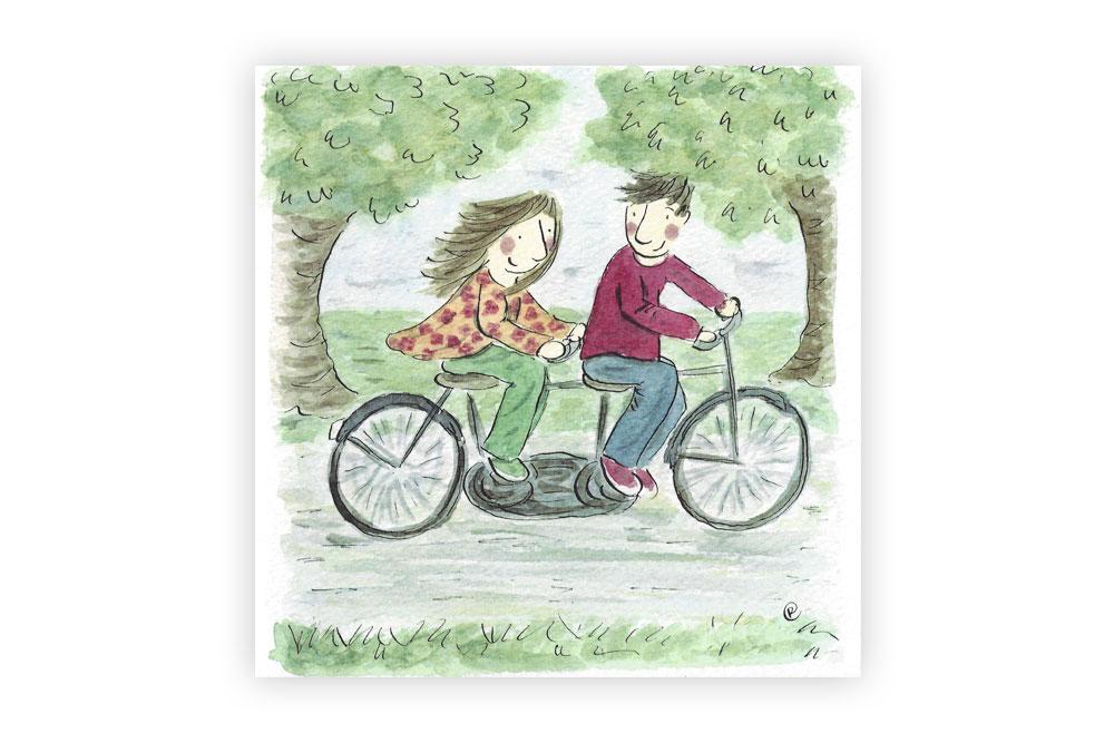 Happy Anniversary Bicycle Greeting Card