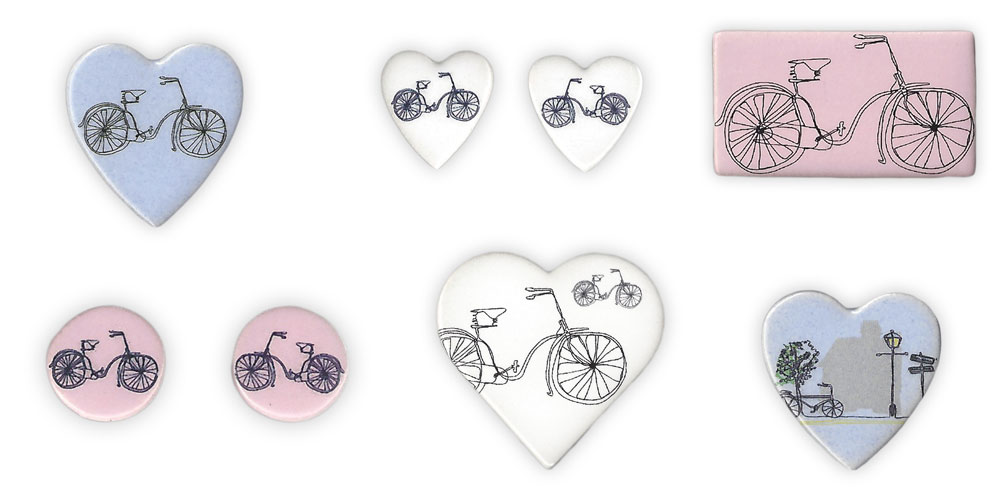 Now Stocking Bicycle Jewellery by Stockwell Ceramics