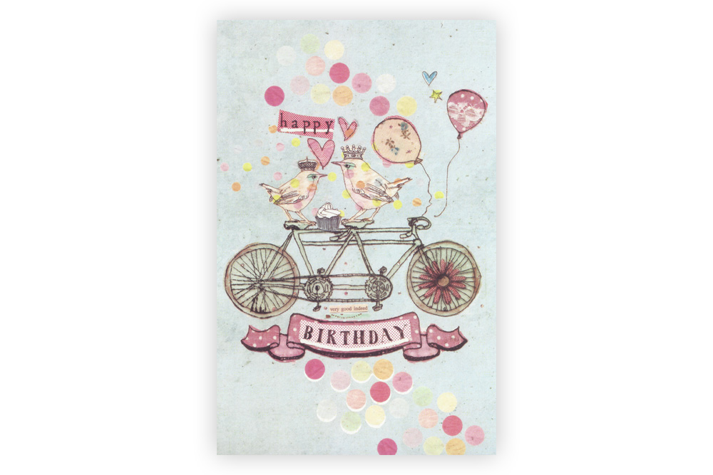 Happy Birthday Tandem Birthday Card