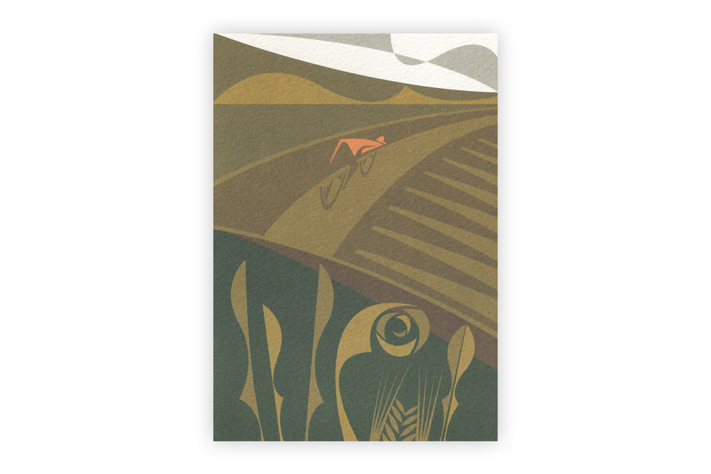 Almost There Bicycle Greeting Card by Andrew Pavitt