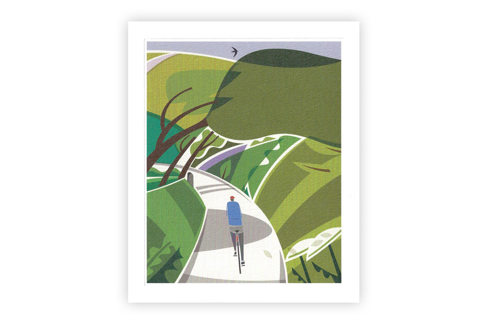 Lost Lanes Bicycle Greeting Card by Andrew Pavitt
