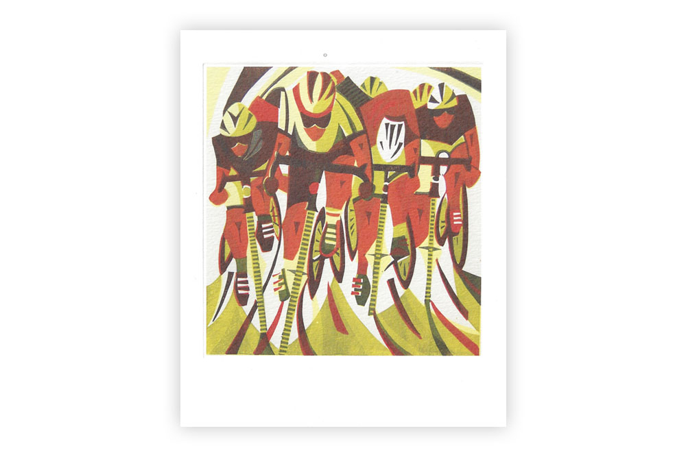 Road Race Bicycle Greeting Card by Paul Cleden