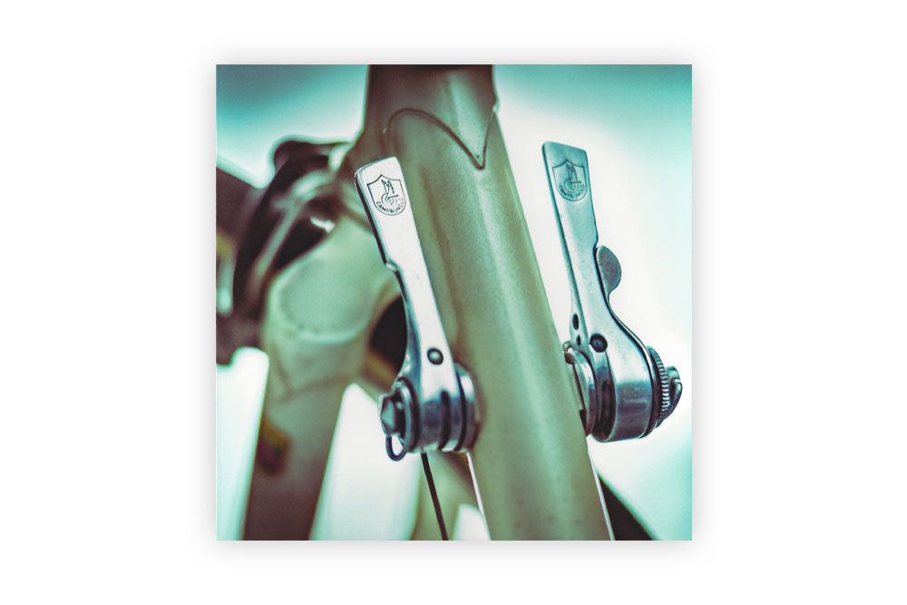 Vintage Gear Levers Bicycle Greeting Card