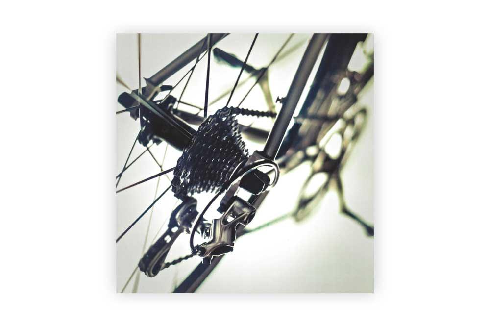 Titanium Bicycle Greeting Card