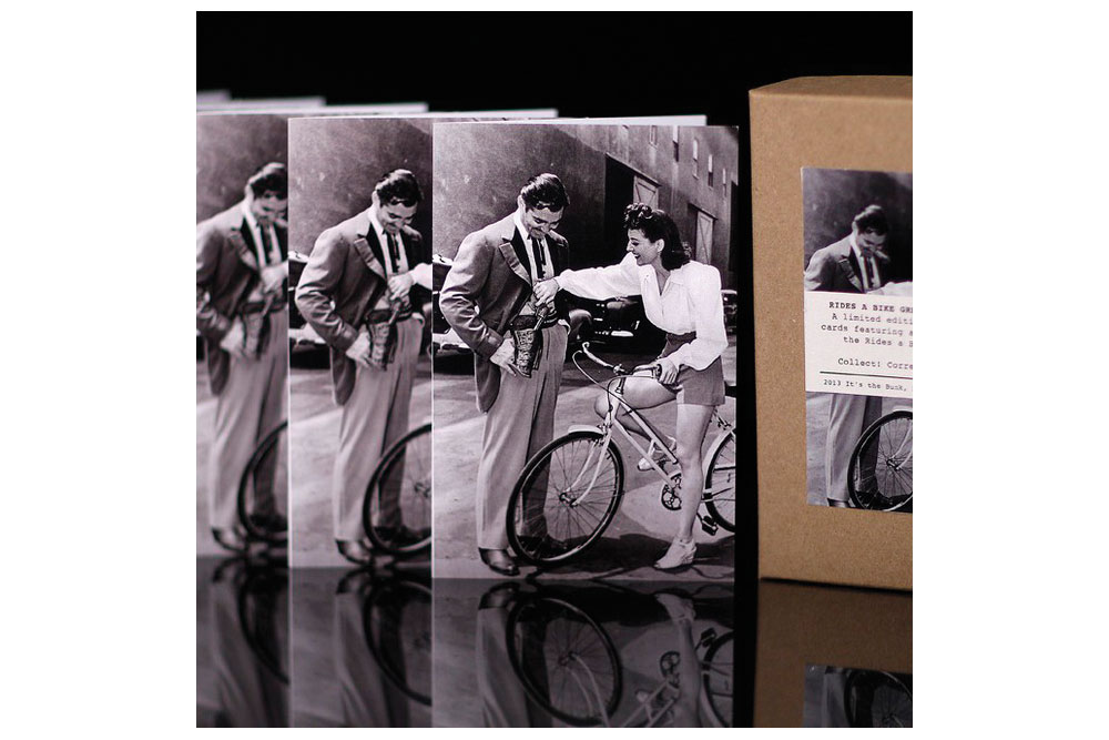Hollywood Rides a Bike – Clark Gable and Joan Crawford Bicycle Greeting Cards