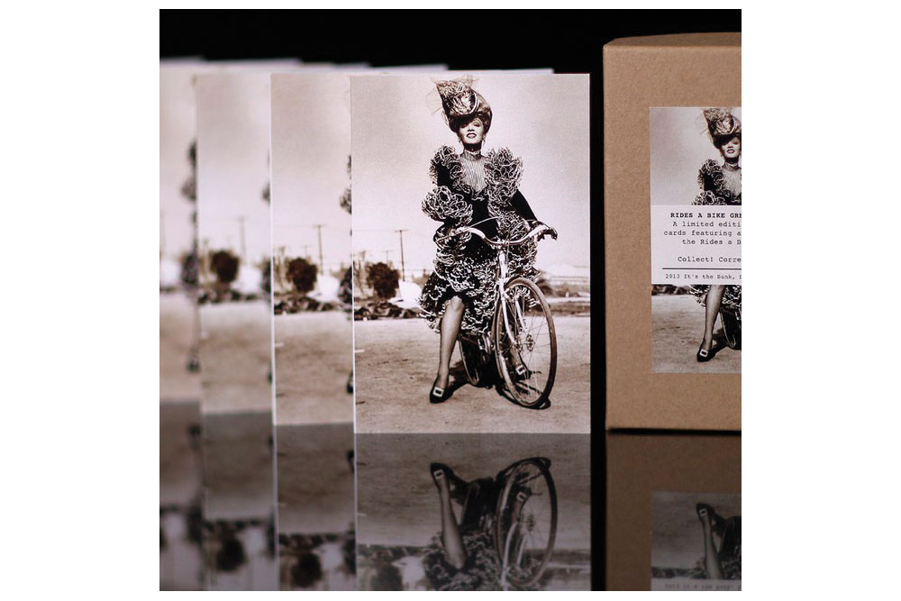 Hollywood Rides a Bike – Marlene Dietrich Bicycle Greeting Cards