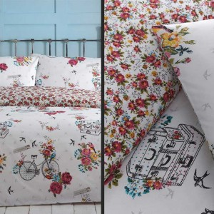 Bird on a Bike - Bicycle Duvet Set