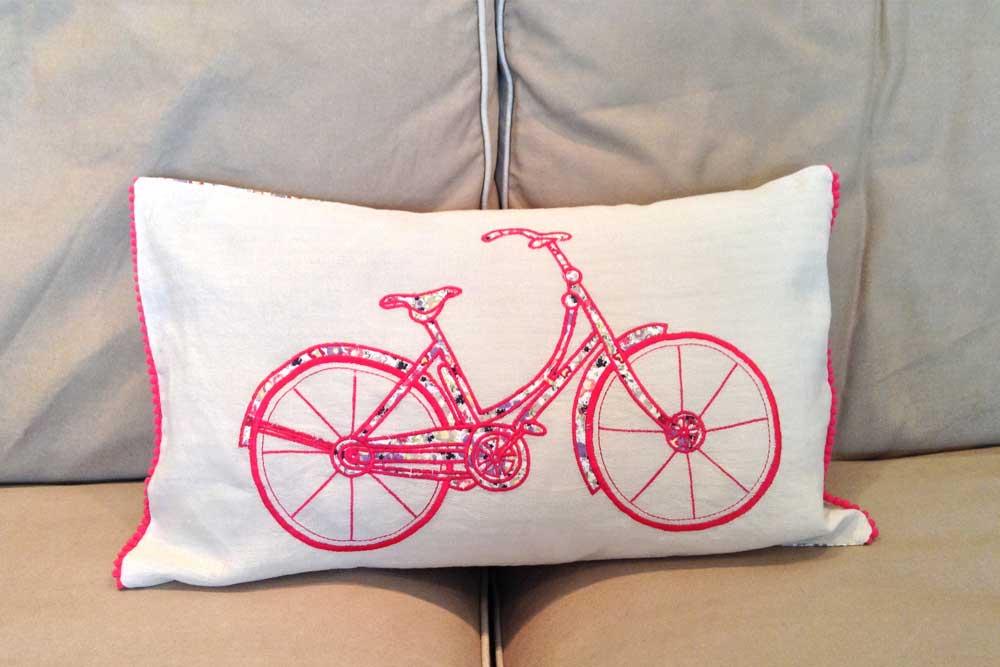 Women's I love my bike Cushion