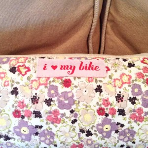 Women's I love my bike Cushion