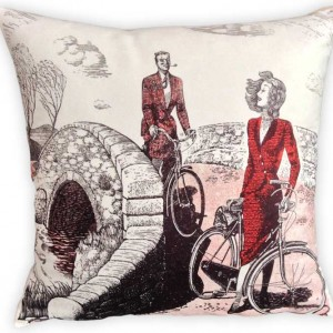 CycleMiles Vintage Couple Bicycle Cushion