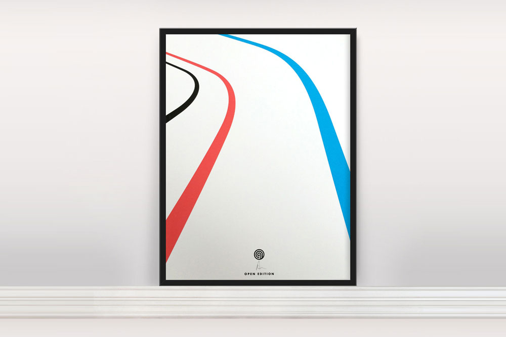 Velo Bicycle Print by Anthony Oram