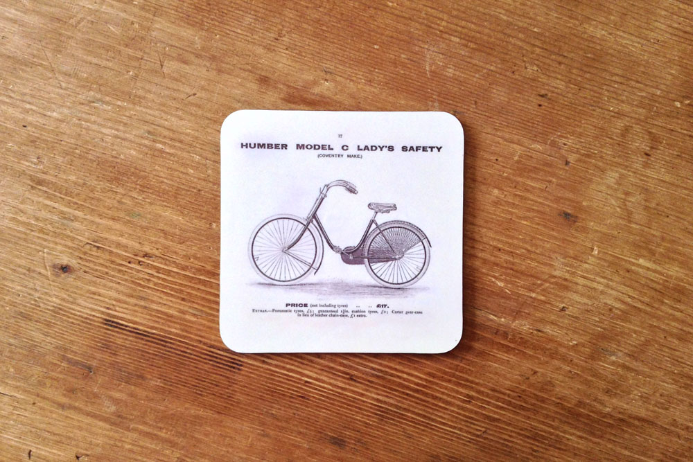 CycleMiles Humber Model C Lady's Bicycle Drinks Coaster