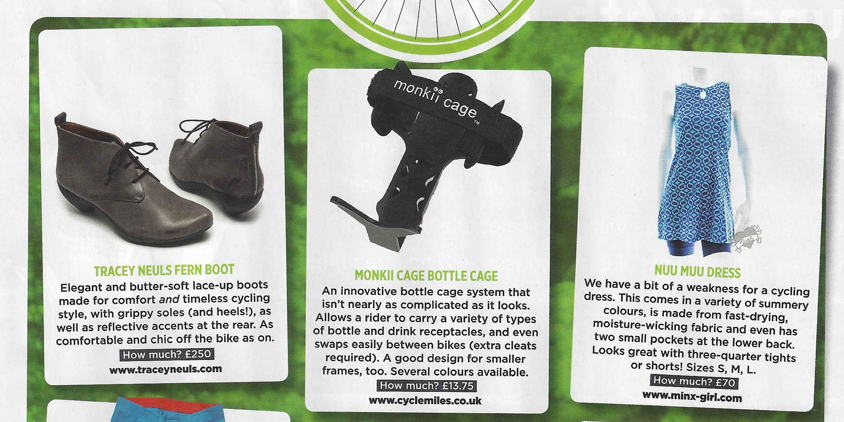 monkii cage Featured in Women's Cycling Magazine