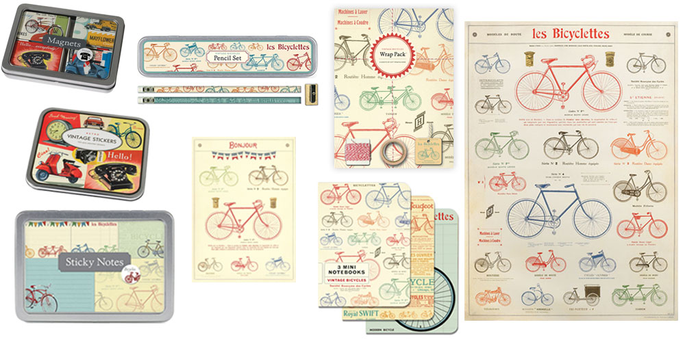 New Cavallini & Co. Vintage Cycling Stationery.