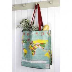 World Map Shopper Bag