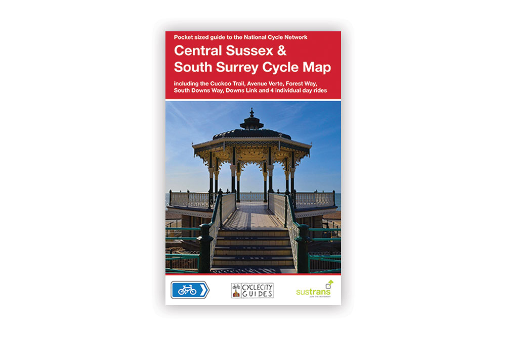 Central Sussex and South Surrey Cycle Map