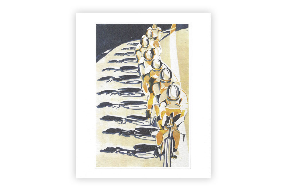 Chain Gang Bicycle Greeting Card by Lisa Takahashi