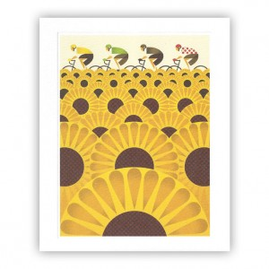 Les Tournesols Bicycle Greeting Card - Eleanor Grosch