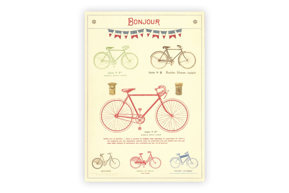 Les Bicyclettes Greeting Card